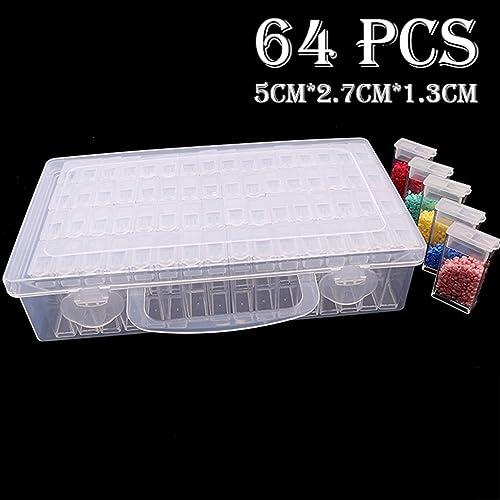 64 Gitter Schmuck Bohrer Aufbewahrungsbox Diamant Stickerei Malerei für Perlen