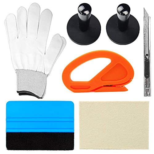 Magnet Gripper /& Wool Felt Squeegee Auto Window Tinting Application Tools