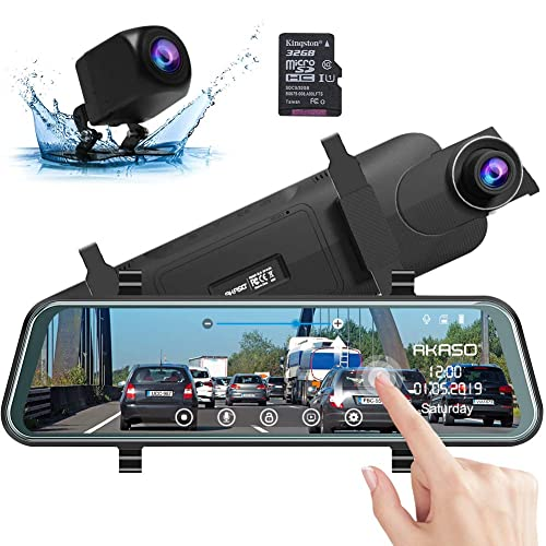 G-Sensor Bewegungserkennung Dash Cam 170/° Weitwinkel-DVR-Dashboard-Recorder mit Nachtsicht Smiler+ 1080P 3 Dual Car Dashboard-Kamera vorne und hinten Loop-Aufnahme Parkmodus