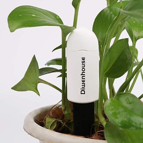 Waterproof Soil Water Monitor Hygrometer for Indoor Plants Gardening Pot Flowers Soil Moisture Meter Test Kit Led Lights Instant Detection White