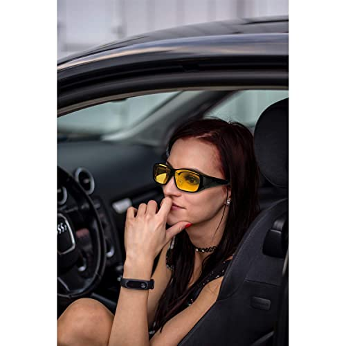 dec0f8d8daf0 PrevNext. PrevNext. IGnaef Men and Women's Night Driving Glasses Polarized  HD Night Vision Wrap ...
