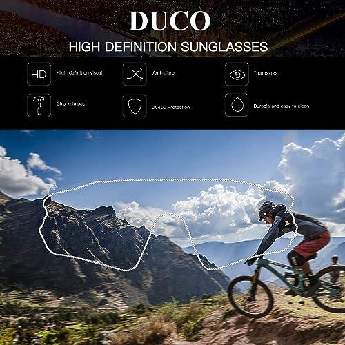 DUBERY Polarisiert Sonnenbrille Radfahren Sport Angeln Brille 100/% UV400 D120