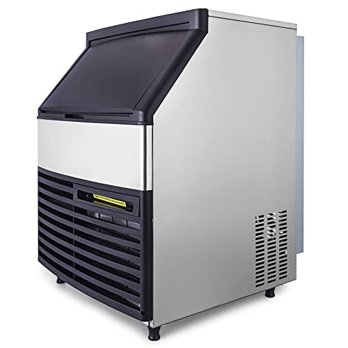 Quiet Operation Commercial Ice Maker 500 Pounds Per Day with 350 lbs Storage Bin by Foster Air Cooling System Stainless Steel Industrial Modular Full Dice Ice Cube Machine