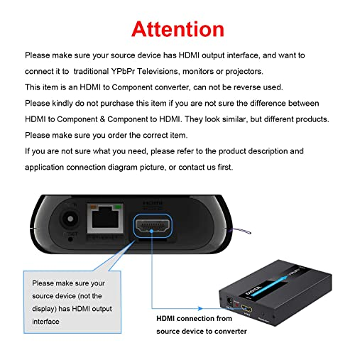 YPbPr/RGB/ 5RCA Output for PC Scaler Converter Roku YPbPr/RGB ...