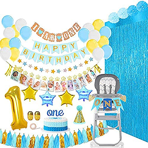 Baby Boy 1 Geburtstag Dekorationen