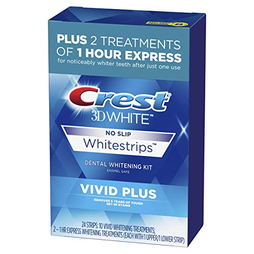 Crest 3d White Whitestrips Vivid Plus 12 Treatments 10