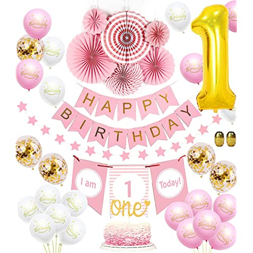 Baby Girl First Birthday Decorations